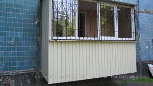 Обшивка балконов, лоджий Кривой Рог Наружная обшивка профильным листом