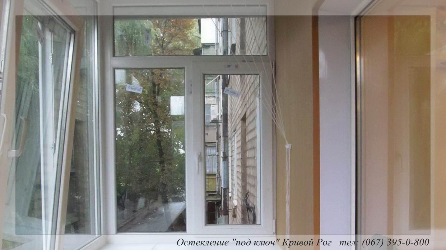Остекление лоджий под ключ окнами рехау.