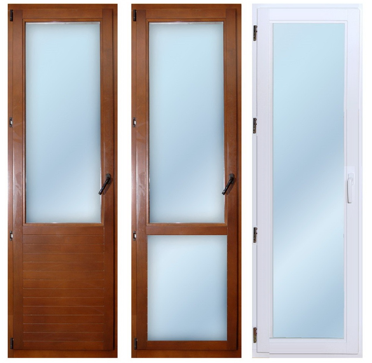 три основных типа балконных и межкомнатных дверей
