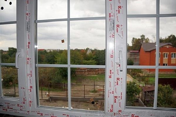 Окна КБЕ со шпросами