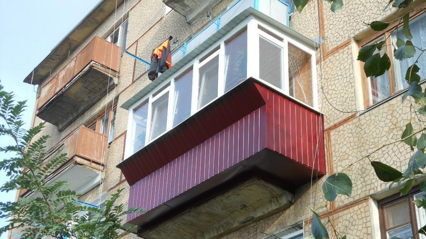 Расширение балкона с выносом рамы Кривой Рог