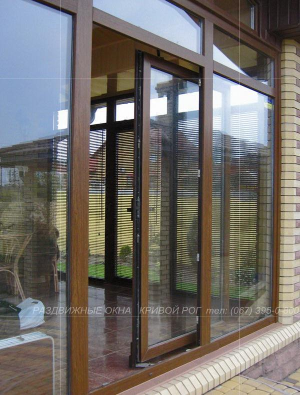 развижные металлопластиковые двери Кривой Рог