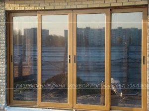 Раздвижные окна большого размера