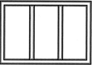 окно в зале и спальне